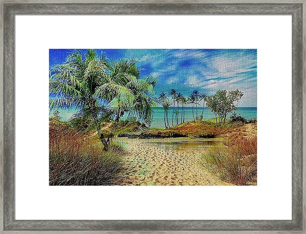Sand To The Shore Montage Framed Print