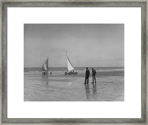 Sand Yachting Framed Print