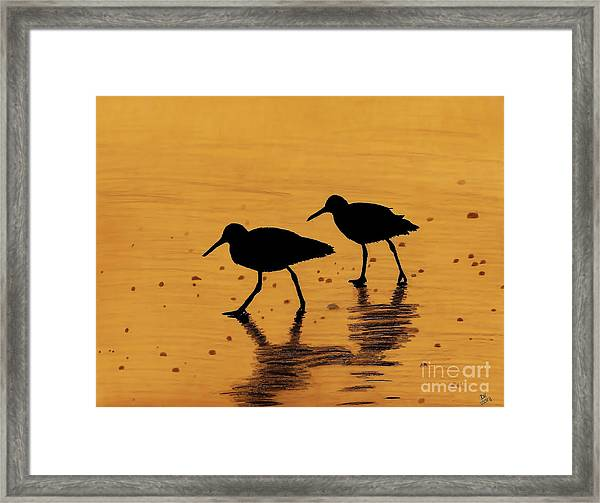 Sandpipers - At - Sunrise Framed Print