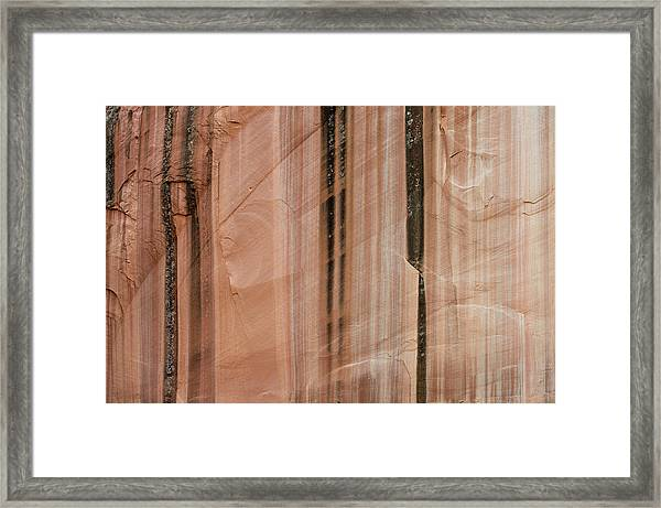 Sandstone Cliff Above Calf Creek Trail Framed Print by William Mullins