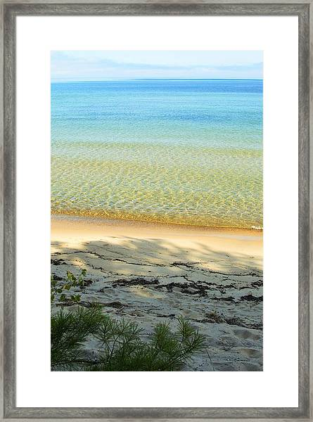 Sandy Blue Framed Print