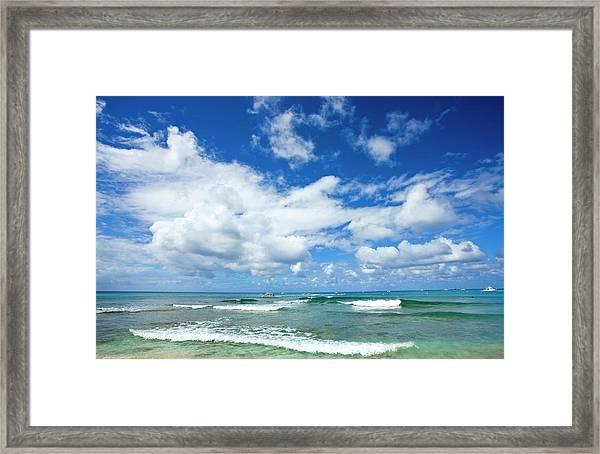 Sandy Lane Beach Framed Print