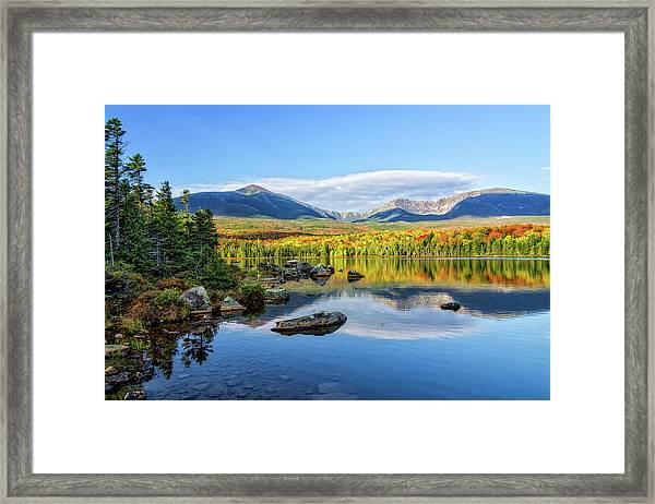 Sandy Stream Pond Baxter Sp Maine Framed Print