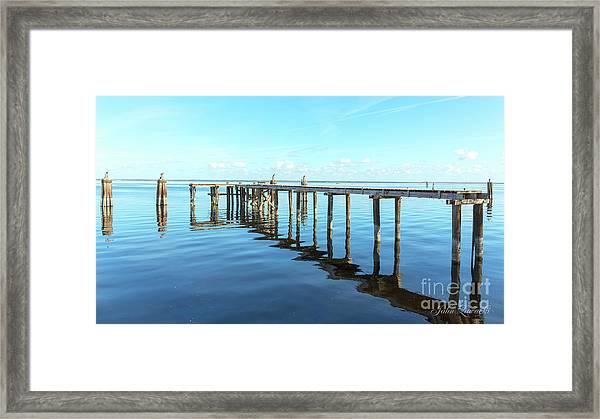Sanford Abandoned Dock-1628 Framed Print