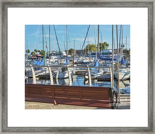 Sanford Riverwalk-6701-a Framed Print