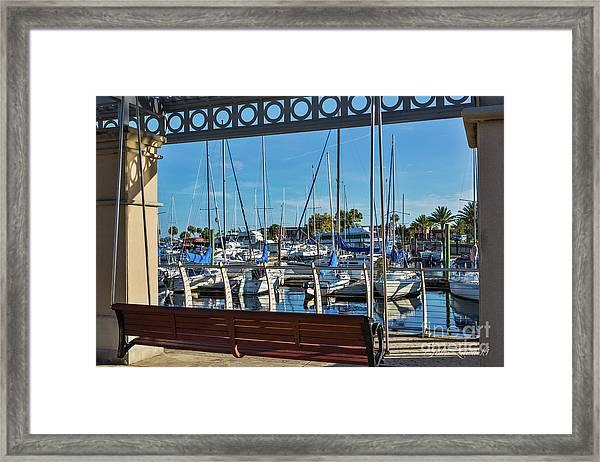 Sanford Riverwalk-6701 Framed Print
