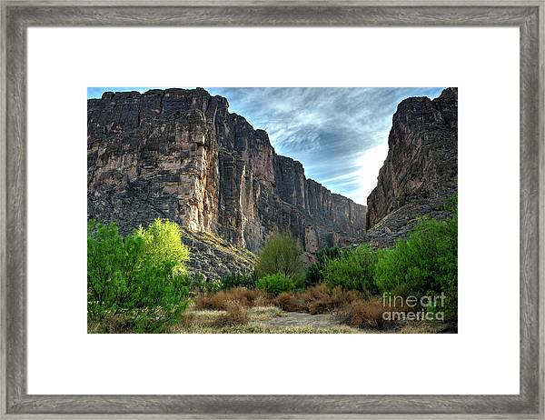 Santa Elena Canyon Framed Print