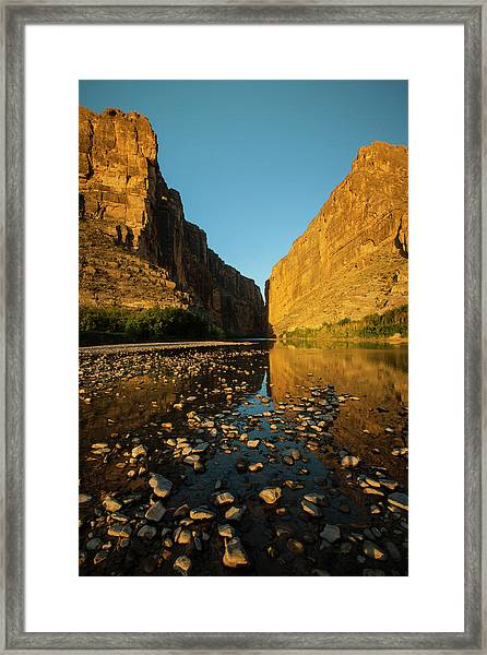 Santa Elena Canyon On The Rio Grande Framed Print