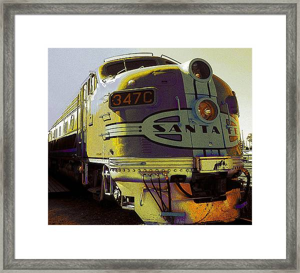 Santa Fe Railroad 347c - Digital Artwork Framed Print