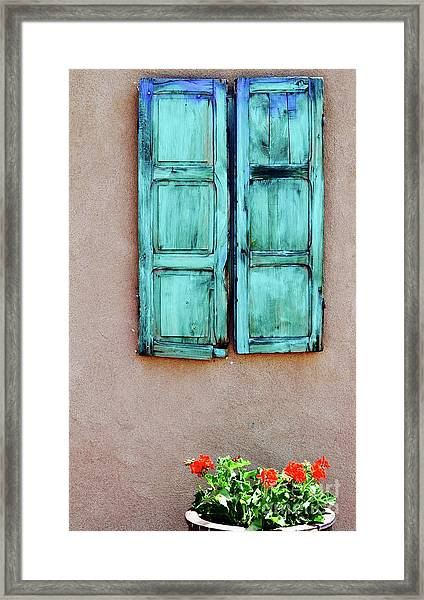 Santa Fe Window Framed Print