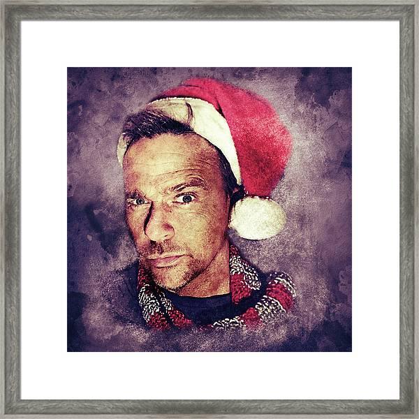 Santa Flanery Framed Print