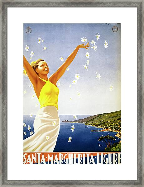 Santa Margherita Ligure Poster Framed Print