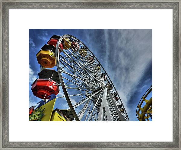 Framed Print featuring the photograph Santa Monica Pier 006 by Lance Vaughn