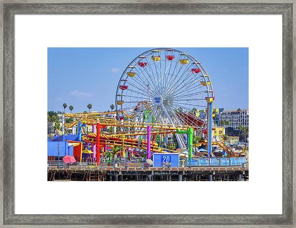 Santa Monica Pier Ferris Wheel Framed Print