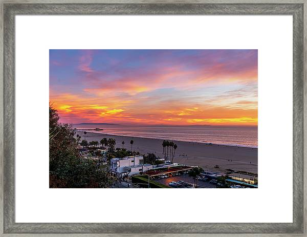 Santa Monica Pier Sunset - 11.1.18  Framed Print