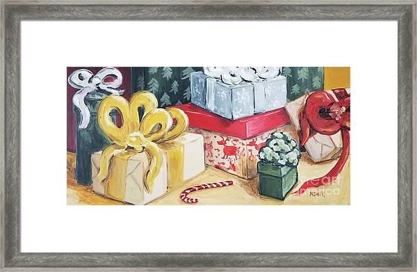 Santa Was Here Framed Print