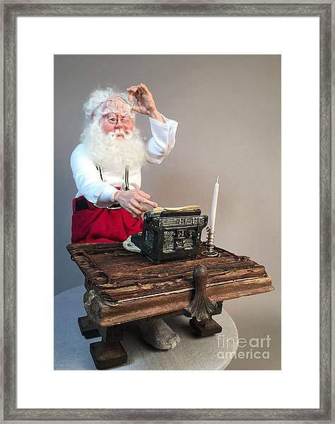 Santas List Framed Print