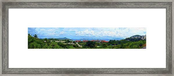 Sapphire Panorama Framed Print