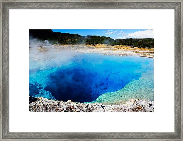 Sapphire Pool,yellowstone National Framed Print