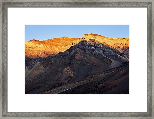 Framed Print featuring the photograph Sarchu Sunrise by Whitney Goodey