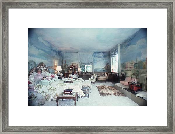Saunderson Bedroom Framed Print by Slim Aarons