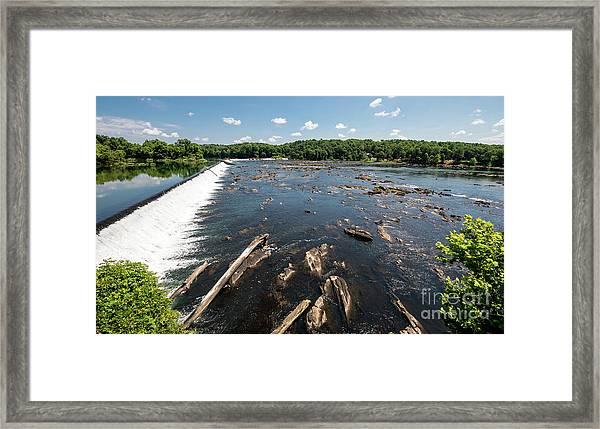 Savannah River Rapids - Augusta Ga Framed Print