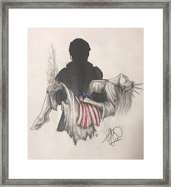Saving Liberty Framed Print