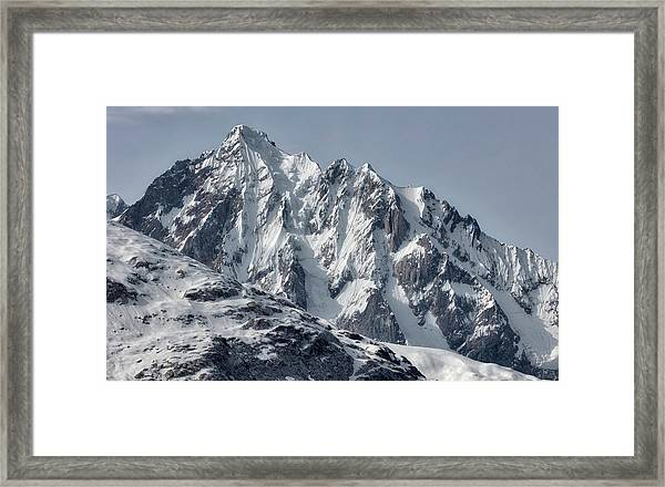Framed Print featuring the photograph Sawtooth Mountain by David A Lane