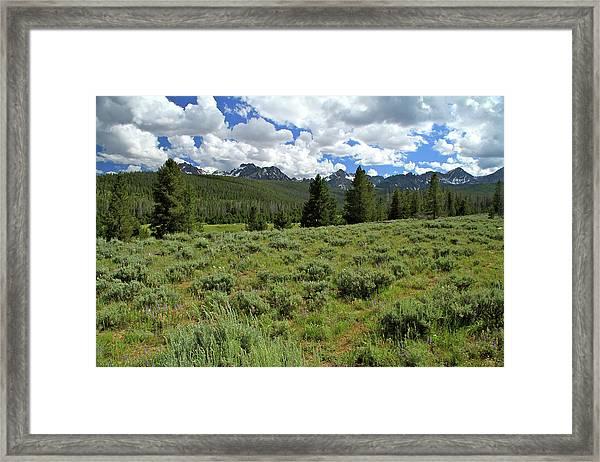 Sawtooth Range Crooked Creek Framed Print