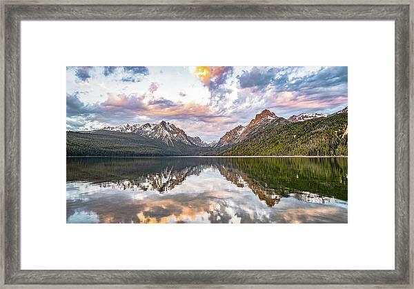 Sawtooth Sunrise Framed Print
