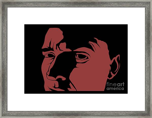 Scary Face Image Framed Print