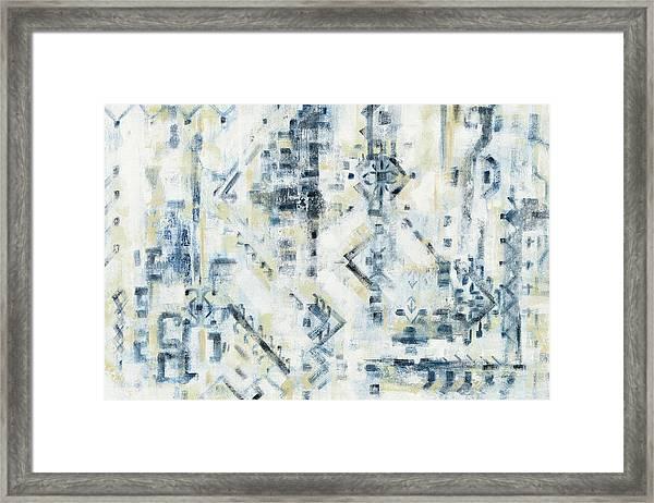 Scattered Indigo Framed Print