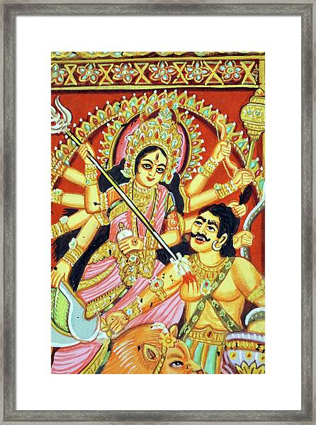 Scenes From The Ramayana Framed Print