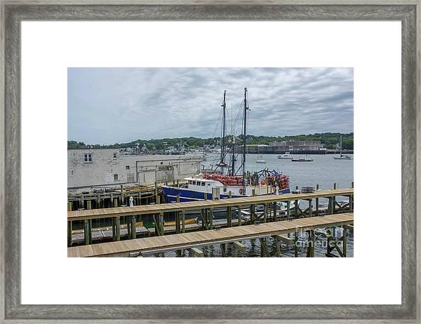 Scenic Harbor Framed Print