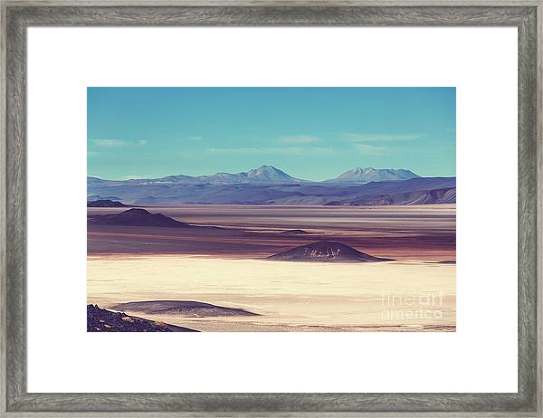 Scenic Landscapes Of Northern Argentina Framed Print