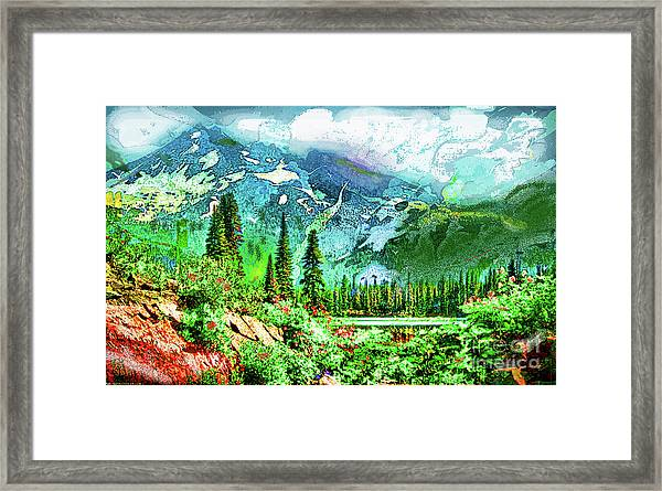 Scenic Mountain Lake Framed Print