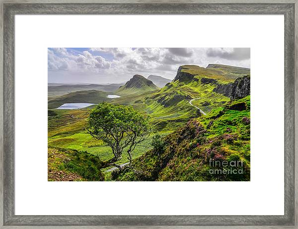 Scenic View Of Quiraing Mountains In Framed Print