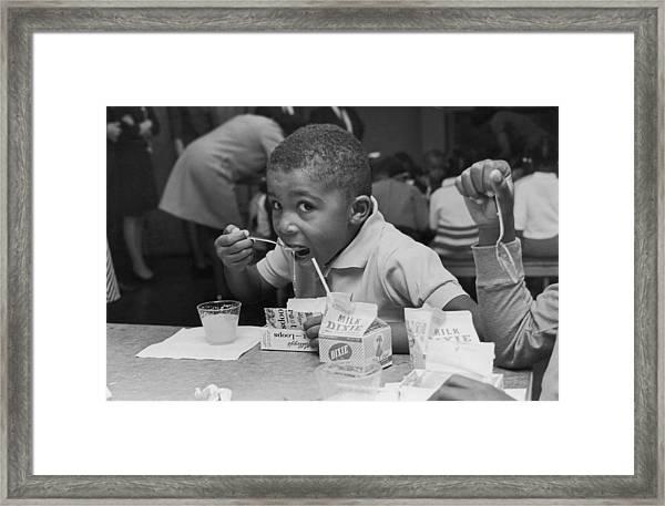 School Breakfast Framed Print