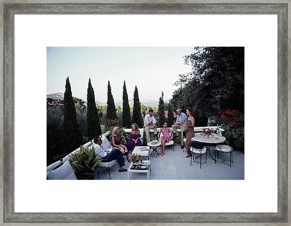 Scio Guests Framed Print