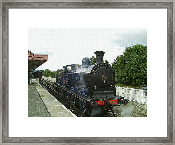 Scotland. Aviemore. Strathspey Railway. Framed Print