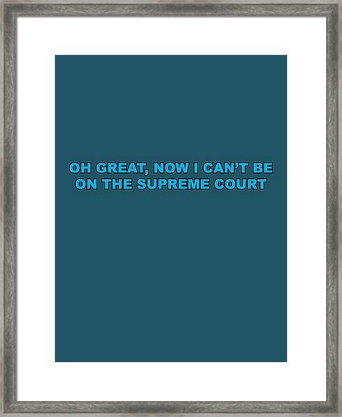 Scotus Framed Print