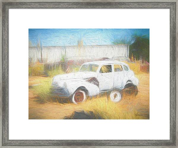 Scrap Car Vii Framed Print
