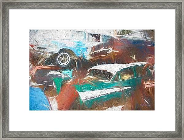 Scrap Cars Framed Print