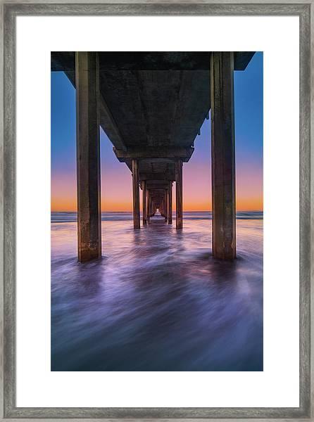 Scripps Pier - 2 Framed Print