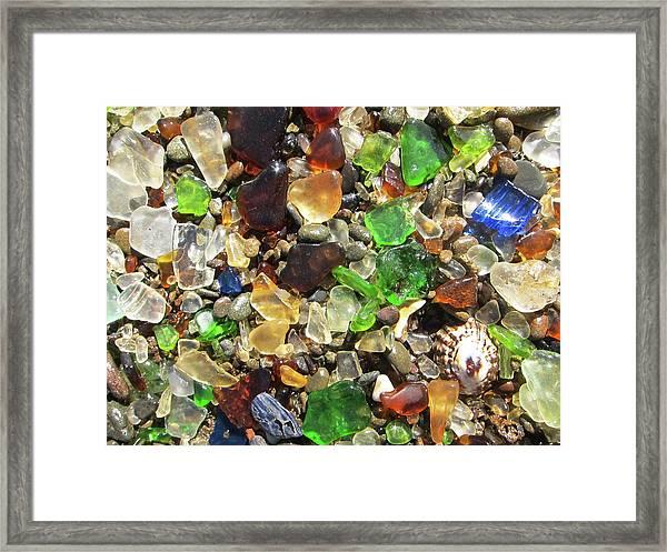 Sea Glass Framed Print