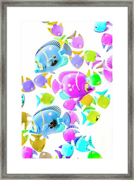 Sea Swimmers Framed Print