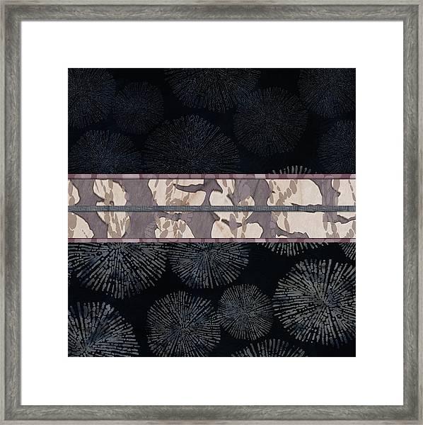 Sea Urchin Contrast Obi Print Framed Print