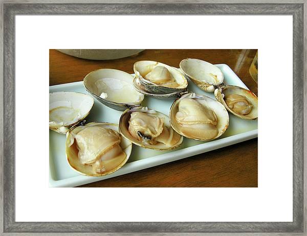 Seafood Baking Framed Print
