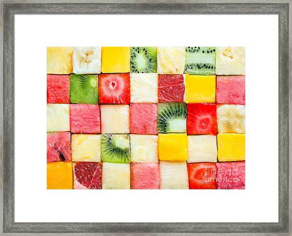 Seamless Background Pattern And Texture Framed Print