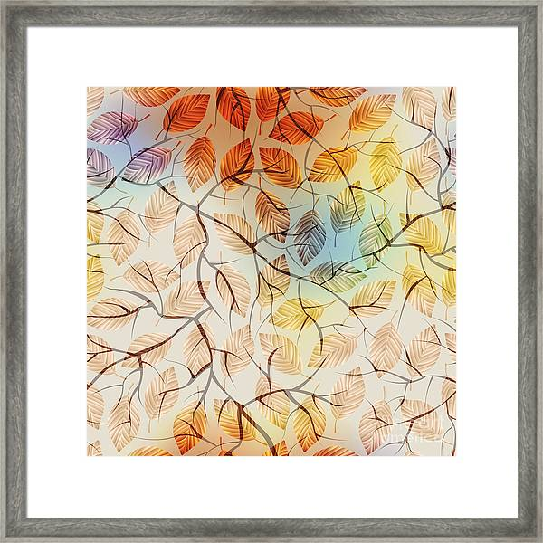 Seamless Background Pattern.  Autumn Framed Print